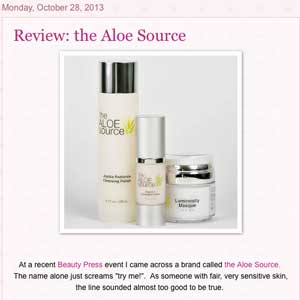 Plush Pink Allure uses The Aloe Source for her dry sensitive skin