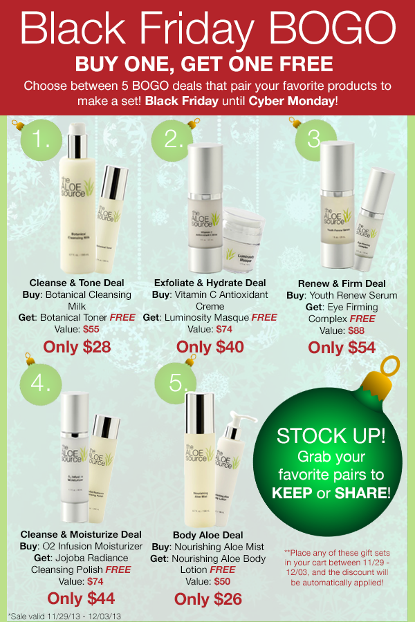 Black Friday Cyber Monday Sales The Aloe Source
