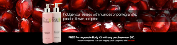 Aloe source skin care for National Pomegranate month